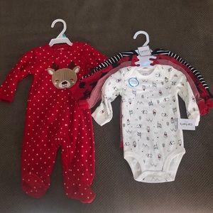 NWT Christmas baby bundle! 🌲
